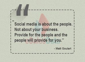 Social media is about the people. Not about your business-min