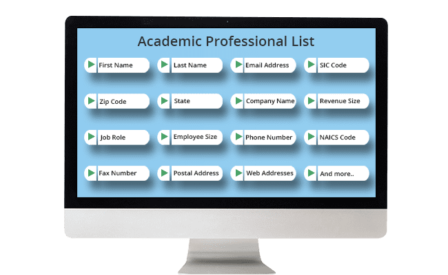 Academic Professional List