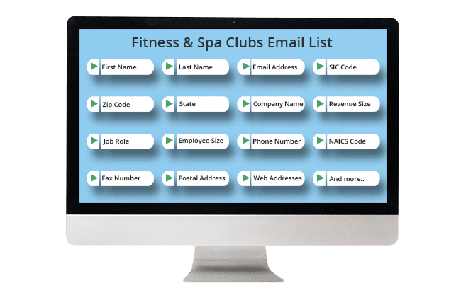 Fitness Spa Clubs Email List