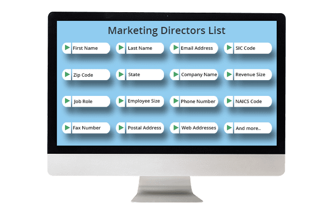 Marketing Directors List