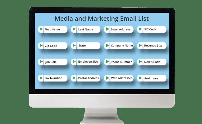 Media and Marketing List