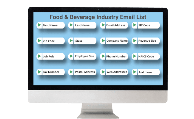 food and beverage email list